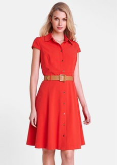 Tahari 'Tony' Belted Full Skirt Shirtdress (Regular & Petite)
