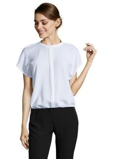 Tahari white 'Anetta' short sleeve blouse