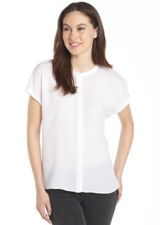 Tahari white 'Anetta' short sleeve blouse