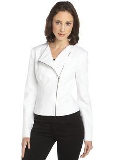 Tahari white 'Brenna' asymmetrical tuxedo jacket