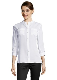 Tahari white 'Jamie' three quarter sleeve blouse