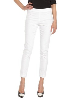 Tahari white 'Juliette' stretch long pants