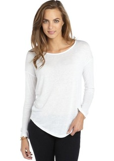 Tahari white knit long sleeve oversize 'Tyler' tee