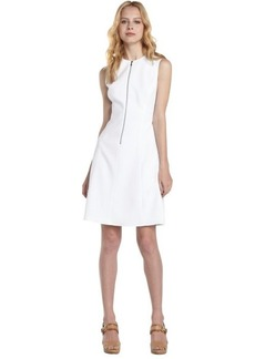 Tahari white zip front 'Nina' dress