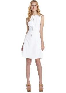 Tahari white zip front 'Nina' dress