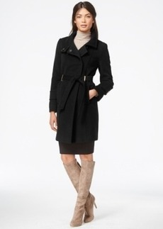 Tahari Wool-Blend Belted Walker Coat