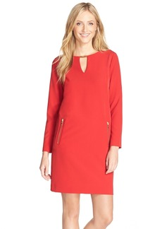 Tahari Stretch Crepe Shift Dress