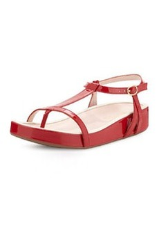 Taryn Rose Amor Patent Leather Sandal, Red
