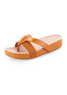 Taryn Rose Austen Patent Thong Sandal, Tangerine