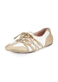 Taryn Rose Candyce Lace-Up Sneaker, Beige