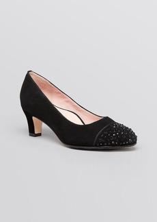 Taryn Rose Cap Toe Pumps - Trulie Mid Heel
