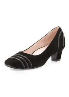 Taryn Rose Charise Suede Pump, Black