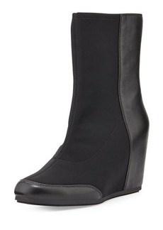 Taryn Rose Dual Stretch-Front Wedge Boot, Black