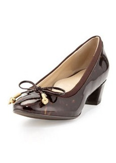 Taryn Rose Fairlawn Patent Leather Bow Pump, Tortoise