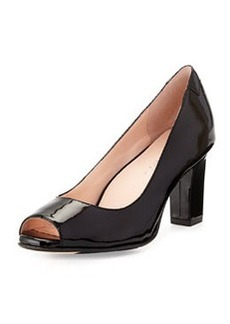 Taryn Rose Fierce Leather High-Heel Pump, Black