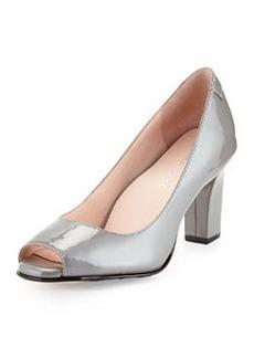 Taryn Rose Fierce Leather High-Heel Pump, Pewter