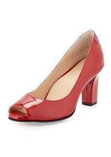Taryn Rose Fierce Leather High-Heel Pump, Red