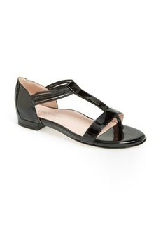 Taryn Rose 'Izabel' Leather T-Strap Sandal