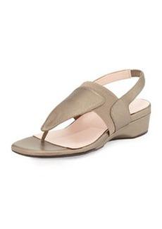 Taryn Rose Kaden Metallic Demi-Wedge Sandal, Quartz