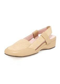 Taryn Rose Kamille Linen Slingback Sandal, Camel