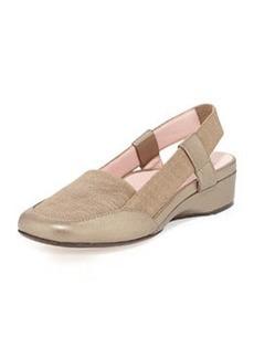 Taryn Rose Kamille Linen Slingback Sandal, Quartz