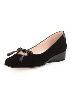 Taryn Rose Katelyn Suede Wedge Loafer, Black