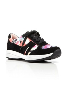 Taryn Rose Lace Up Sneakers - Floral Travel