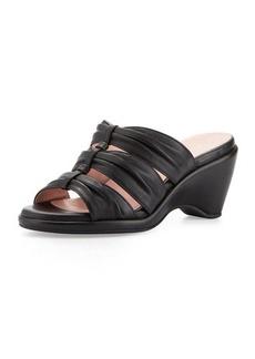 Taryn Rose Maison Ruched Wedge Slide, Black