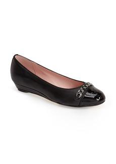 Taryn Rose 'Paola' Cap Toe Leather Flat (Women)