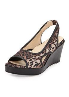 Taryn Rose Sabriel Stretch Slingback Sandal, Leopard