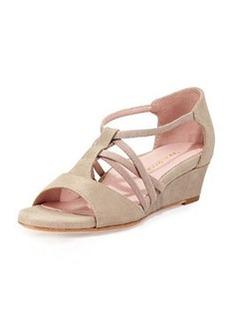 Taryn Rose Senja Metallic Sandal, Taupe
