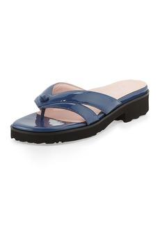 Taryn Rose Tacy Patent Thong Sandal, Blue