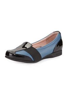 Taryn Rose Taurus Gored Slip-On Loafer, Blue