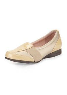 Taryn Rose Taurus Gored Slip-On Loafer, Gold