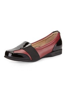 Taryn Rose Taurus Gored Slip-On Loafer, Valentine Red