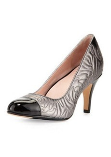 Taryn Rose Thompson Quilted Pump, Pewter
