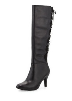 Taryn Rose Tiara Lace-Back Boot, Black