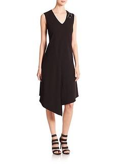 Teri Jon by Rickie Freeman Asymmetrical Beaded Dress