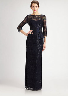 Teri Jon Beaded Lace Gown