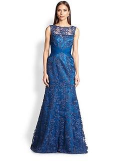 Teri Jon Beaded Lace Gown
