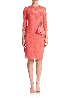 Teri Jon by Rickie Freeman Beaded Lace Dress