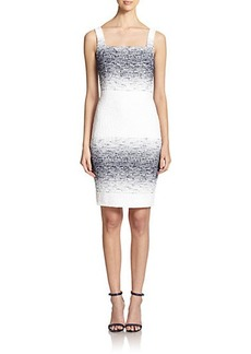 Teri Jon by Rickie Freeman Bouclé Stripe Sheath