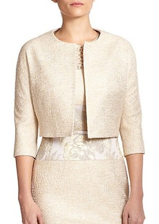 Teri Jon by Rickie Freeman Cropped Tweed Jacket