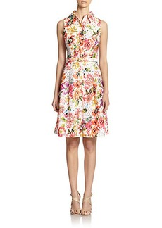 Teri Jon by Rickie Freeman Floral Jacquard Shirtdress