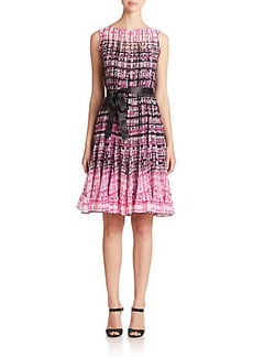 Teri Jon by Rickie Freeman Printed Sleeveless Dress
