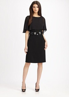 Teri Jon Chiffon Overlay Dress