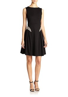 Teri Jon Embellished Fit-&-Flare Dress
