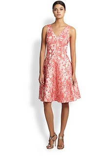 Teri Jon Jacquard Cocktail Dress