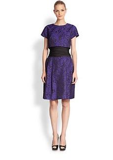 Teri Jon Jacquard Popover Dress