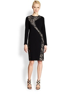 Teri Jon Lace-Accent Cocktail Dress